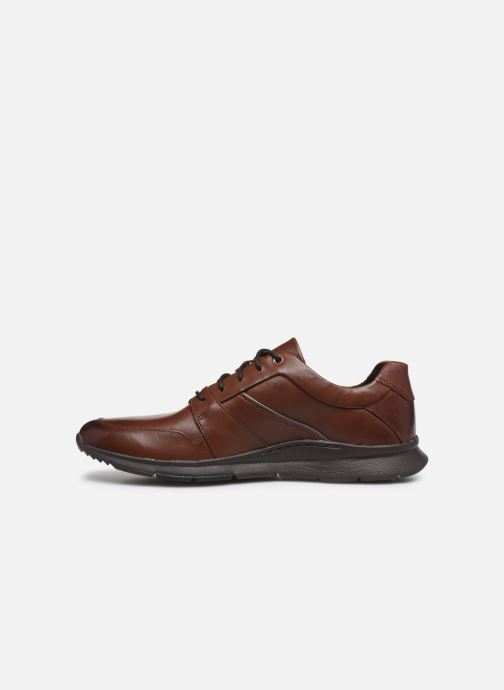 Baskets Clarks Unstructured Un Tynamo Flow Marron vue face