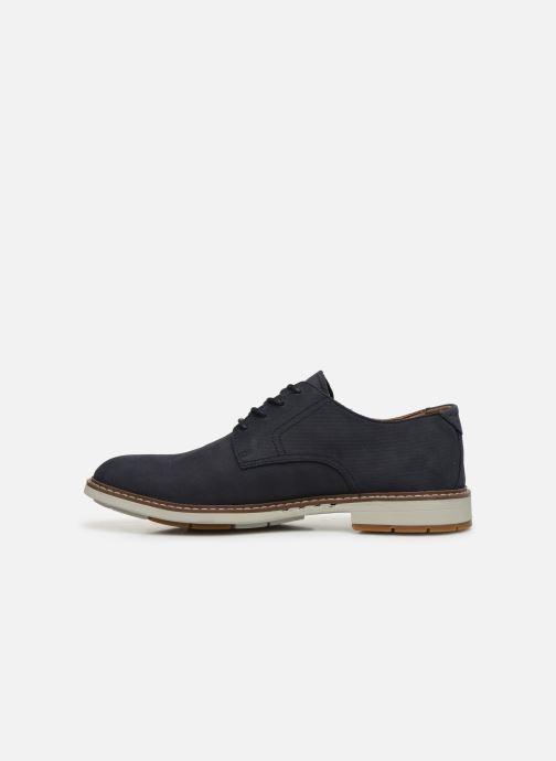 Chaussures à lacets Clarks Unstructured Un Elott Lace Bleu vue face