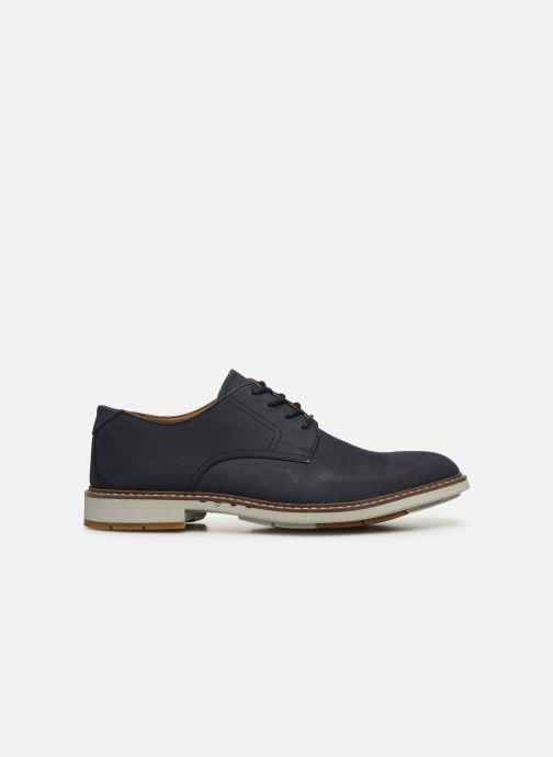 Chaussures à lacets Clarks Unstructured Un Elott Lace Bleu vue derrière