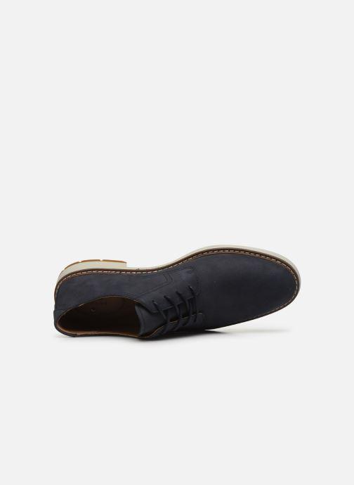 Chaussures à lacets Clarks Unstructured Un Elott Lace Bleu vue gauche