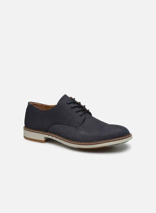 Chaussures à lacets Clarks Unstructured Un Elott Lace Bleu vue détail/paire
