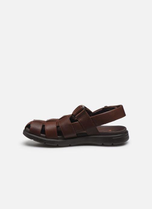 Sandali e scarpe aperte Clarks Unstructured UnWilmore Ray Marrone immagine frontale