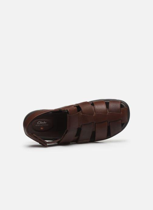 Sandali e scarpe aperte Clarks Unstructured UnWilmore Ray Marrone immagine sinistra