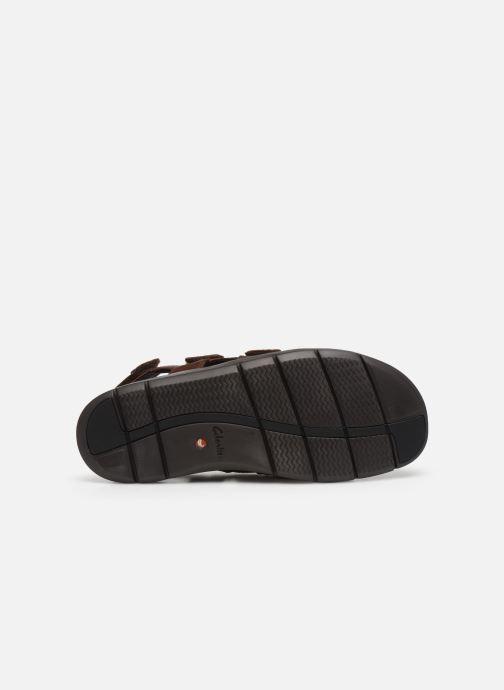 Sandali e scarpe aperte Clarks Unstructured UnWilmore Ray Marrone immagine dall'alto