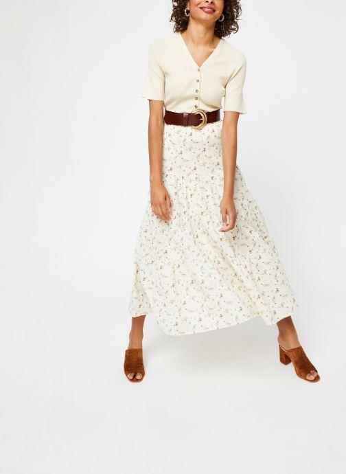Vêtements OBJECT Objbreeze Long Skirt A Q Blanc vue bas / vue portée sac