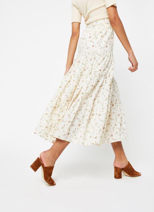 Vêtements OBJECT Objbreeze Long Skirt A Q Blanc vue portées chaussures
