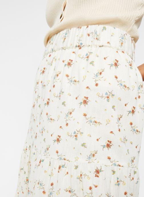 Vêtements OBJECT Objbreeze Long Skirt A Q Blanc vue face