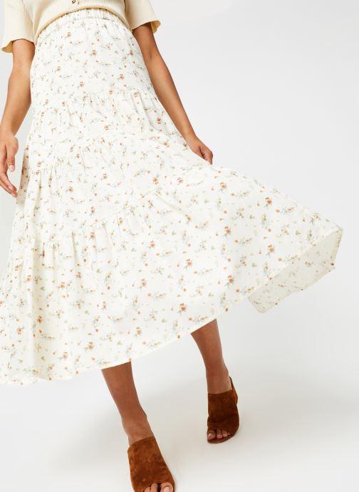 Vêtements OBJECT Objbreeze Long Skirt A Q Blanc vue détail/paire