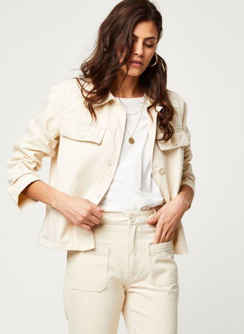 Vêtements OBJECT Objestelle Jacket 108 Beige vue détail/paire