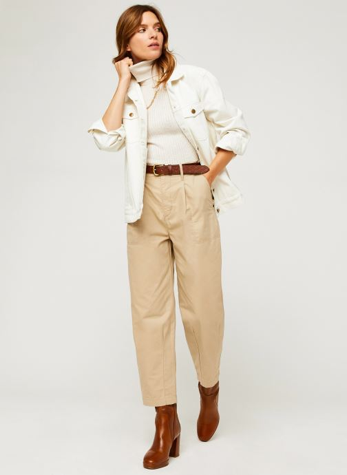 Kleding OBJECT Objfeather S/L Top A Q Beige onder