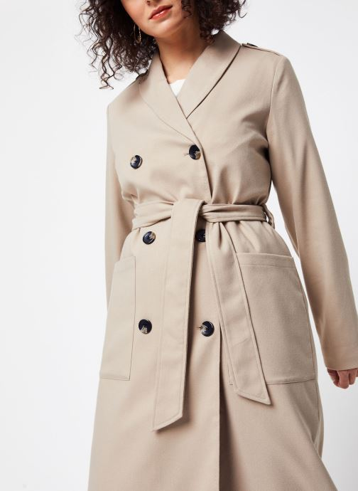 Vêtements OBJECT Objmabelina L/S Trenchcoat 107 Beige vue face