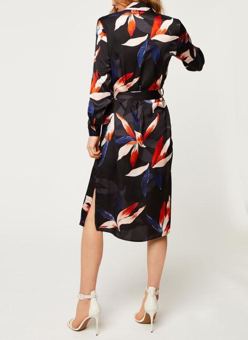 Vêtements OBJECT Objmichelle L/S Shirt Dress A Div Noir vue portées chaussures