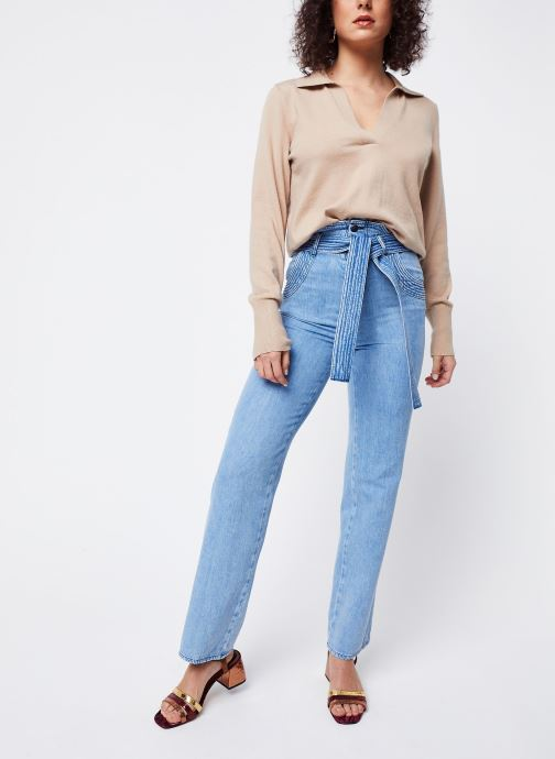 Vêtements OBJECT Objmiranda L/S Knit Pullover A Lmt 12 Marron vue bas / vue portée sac