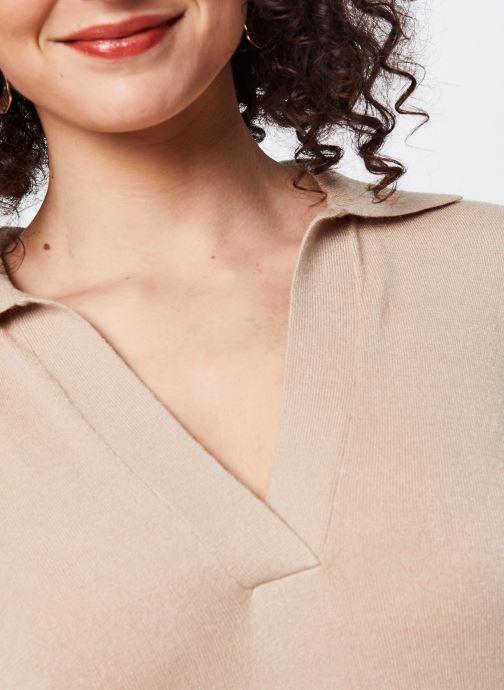 Vêtements OBJECT Objmiranda L/S Knit Pullover A Lmt 12 Marron vue face