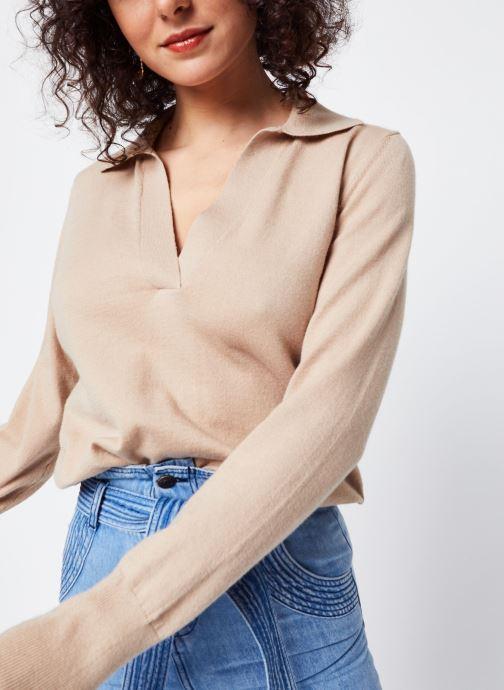 Vêtements OBJECT Objmiranda L/S Knit Pullover A Lmt 12 Marron vue détail/paire