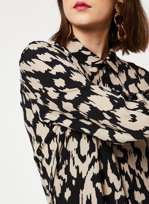 Vêtements OBJECT Objnoah L/S Shirt A Lmt 12 Marron vue face