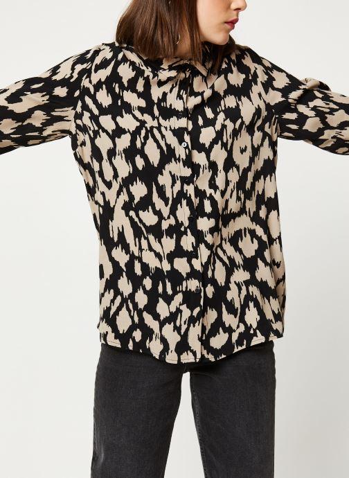 Vêtements OBJECT Objnoah L/S Shirt A Lmt 12 Marron vue droite