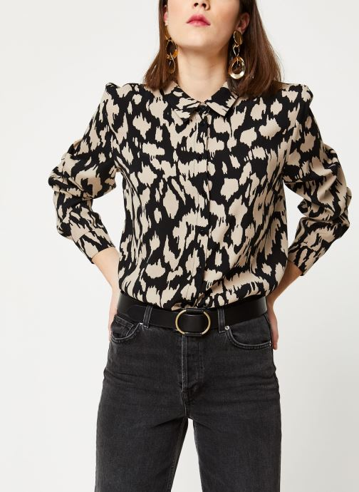 Vêtements OBJECT Objnoah L/S Shirt A Lmt 12 Marron vue détail/paire
