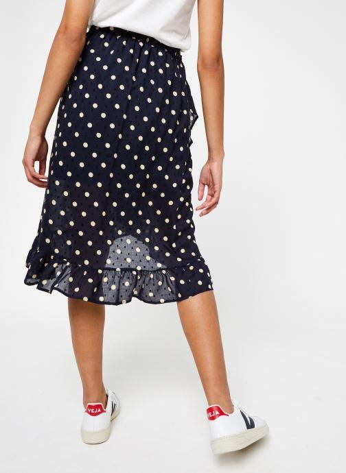 Vêtements OBJECT Objphoenix  Wrap Skirt A Q Bleu vue portées chaussures