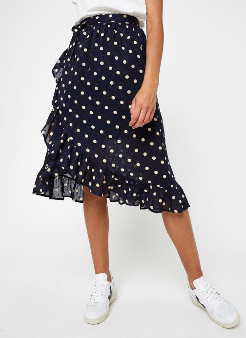 Vêtements OBJECT Objphoenix  Wrap Skirt A Q Bleu vue détail/paire