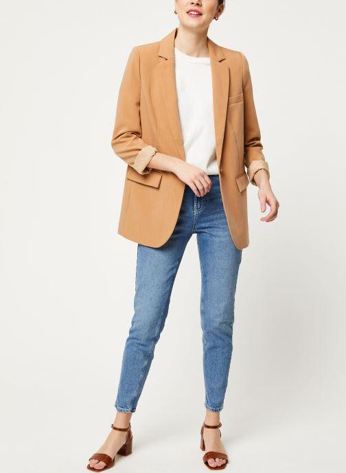 Vêtements OBJECT Objsiringa Blazer A Lmt 12 Marron vue bas / vue portée sac