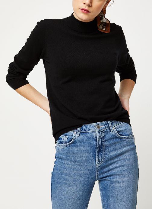 Vêtements OBJECT Objthess L/S Knit Pullover Noos Noir vue détail/paire