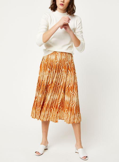 Vêtements OBJECT Objthess L/S Knit Pullover Noos Beige vue bas / vue portée sac