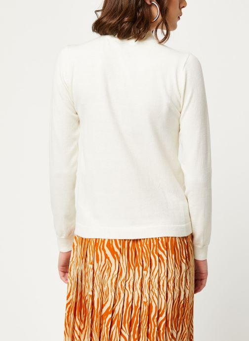 Vêtements OBJECT Objthess L/S Knit Pullover Noos Beige vue portées chaussures