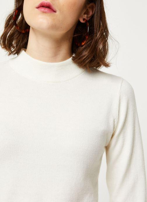 Vêtements OBJECT Objthess L/S Knit Pullover Noos Beige vue face