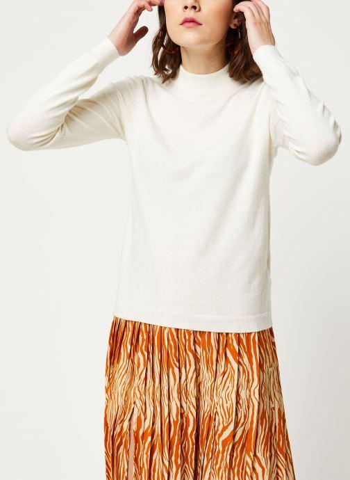 Vêtements OBJECT Objthess L/S Knit Pullover Noos Beige vue droite