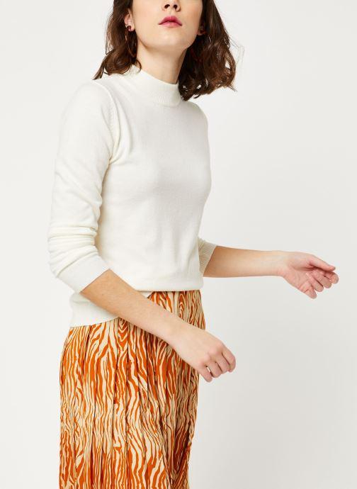 Vêtements OBJECT Objthess L/S Knit Pullover Noos Beige vue détail/paire