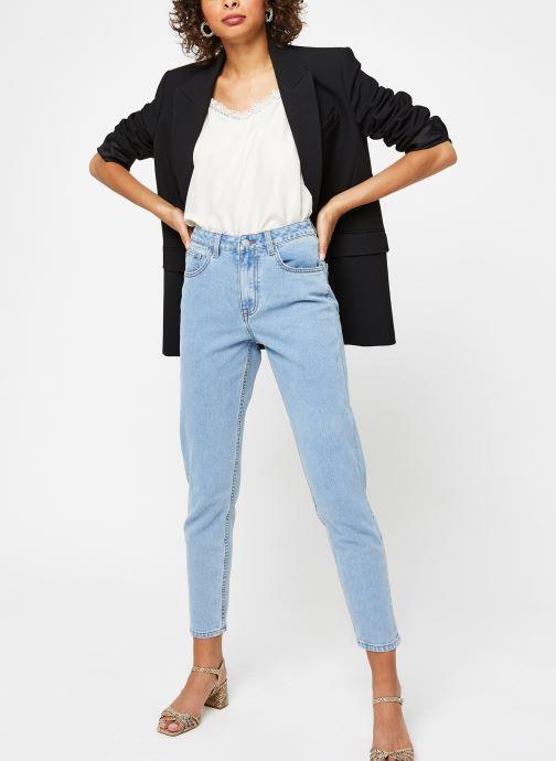 Vêtements OBJECT Objvinnie Hw Mom Jeans A Q Bleu vue bas / vue portée sac