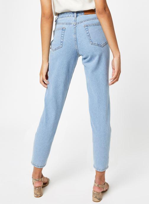 Vêtements OBJECT Objvinnie Hw Mom Jeans A Q Bleu vue portées chaussures
