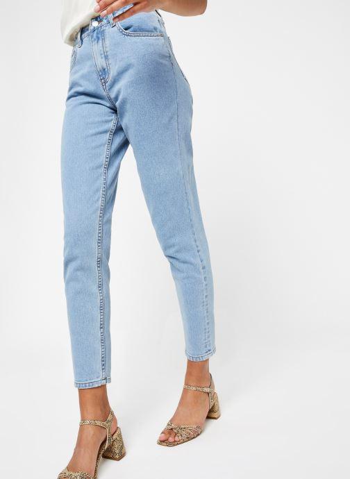 Vêtements OBJECT Objvinnie Hw Mom Jeans A Q Bleu vue détail/paire