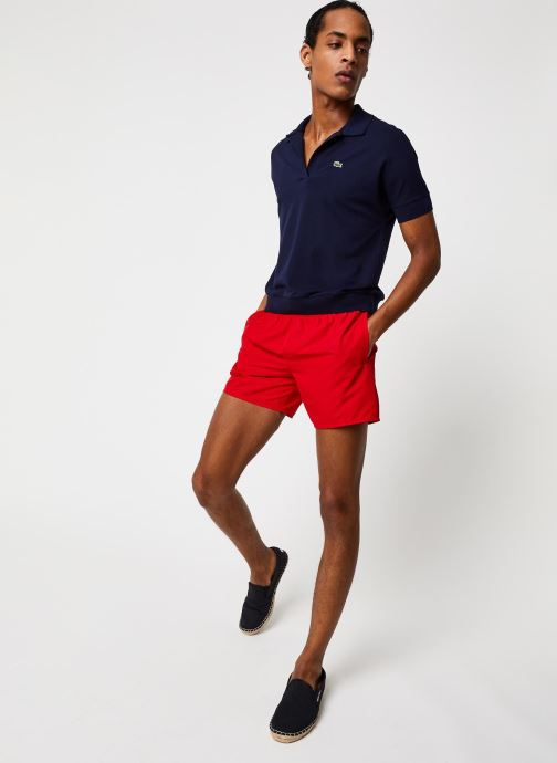 Vêtements Lacoste Maillot de Bain Rouge vue bas / vue portée sac