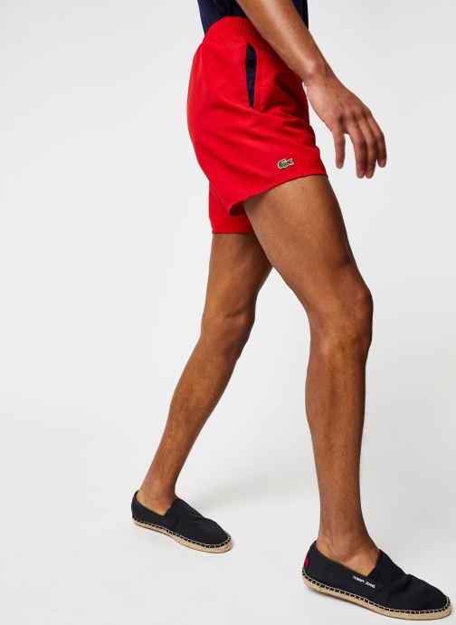 Vêtements Lacoste Maillot de Bain Rouge vue détail/paire