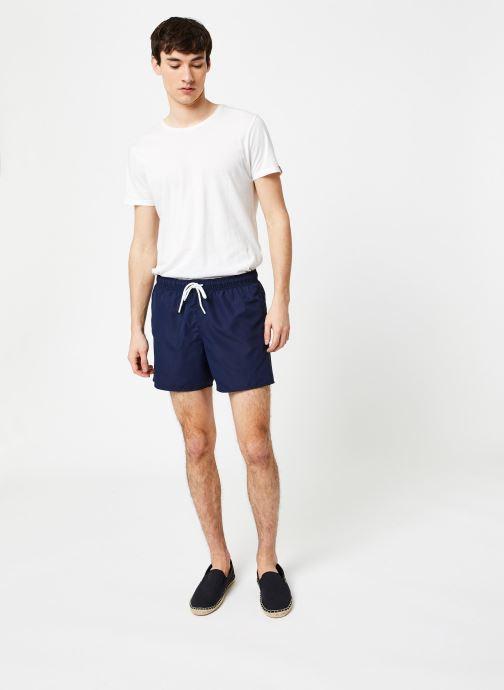Vêtements Lacoste Maillot de Bain Bleu vue bas / vue portée sac