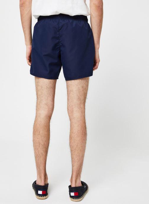 Vêtements Lacoste Maillot de Bain Bleu vue portées chaussures