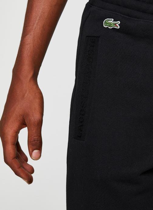 Vêtements Lacoste Pantalon de Jogging Noir vue face