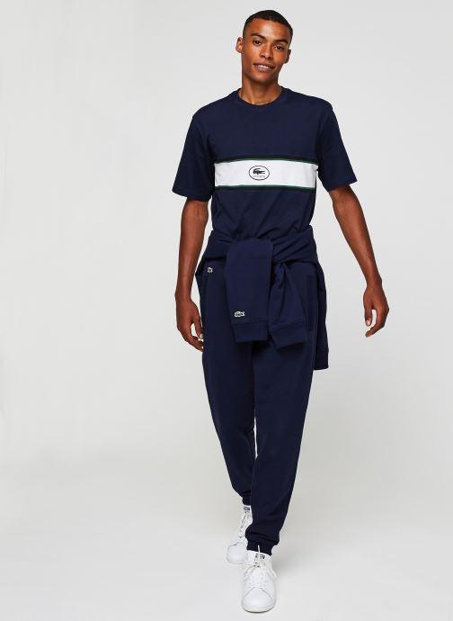 Vêtements Lacoste Pantalon de Jogging Bleu vue bas / vue portée sac