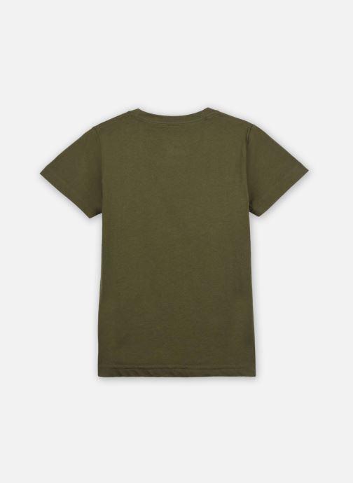 Vêtements Levi's T-shirt Lvb Batwing Tee Vert vue portées chaussures