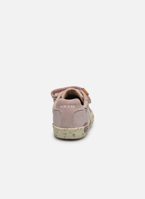 Baskets Geox B Kilwi Girl B02D5H x WWF Rose vue droite