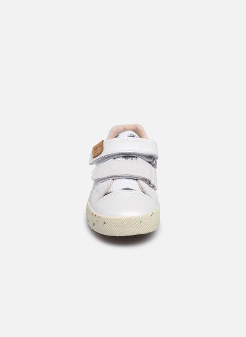 Sneaker Geox B Kilwi Girl B02D5H x WWF weiß schuhe getragen
