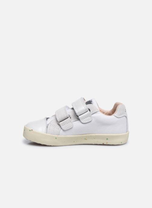 Sneaker Geox B Kilwi Girl B02D5H x WWF weiß ansicht von vorne