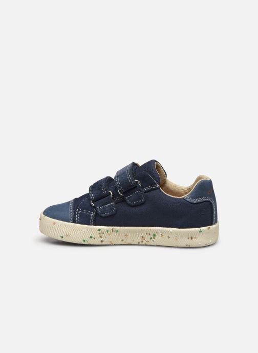 Sneakers Geox B Kilwi Boy B02A7J x WWF Blauw voorkant