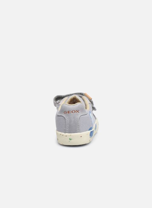 Sneaker Geox B Kilwi Boy B02A7J x WWF grau ansicht von rechts