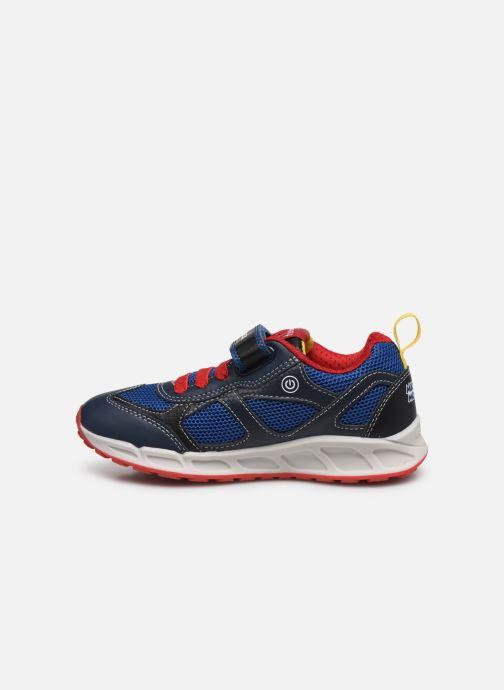 Sneakers Geox J Shuttle Boy J0294A x Mickey Blauw voorkant