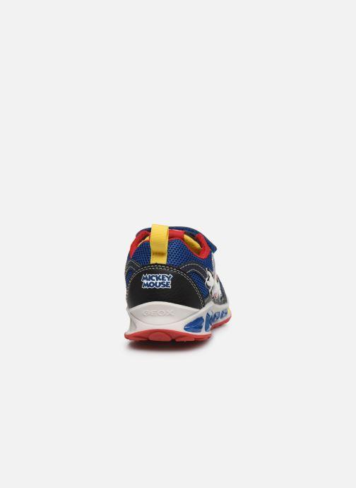 Sneakers Geox J Shuttle Boy J0294A x Mickey Blauw rechts