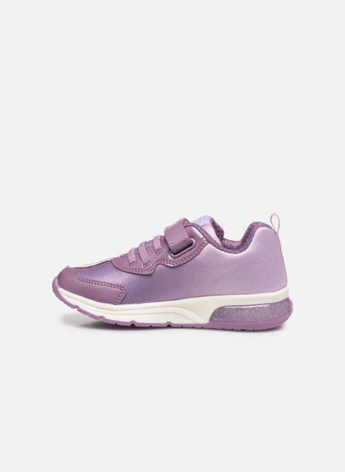 Sneaker Geox J Space Club GirlJ028VD x Frozen lila ansicht von vorne