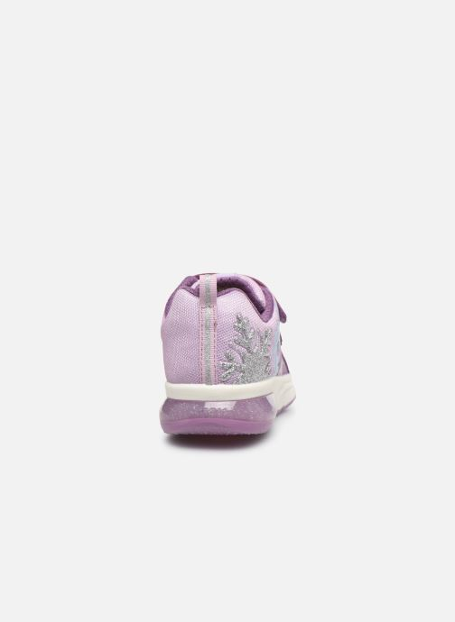 Sneaker Geox J Space Club GirlJ028VD x Frozen lila ansicht von rechts